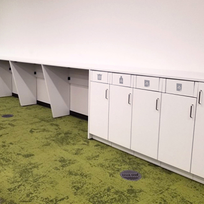 Hamilton Casework Recycle Stations