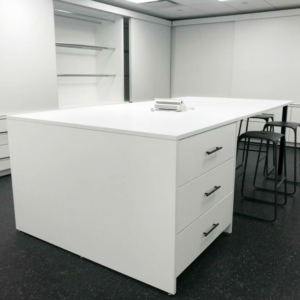 Laminate Workplace Island with Drawers