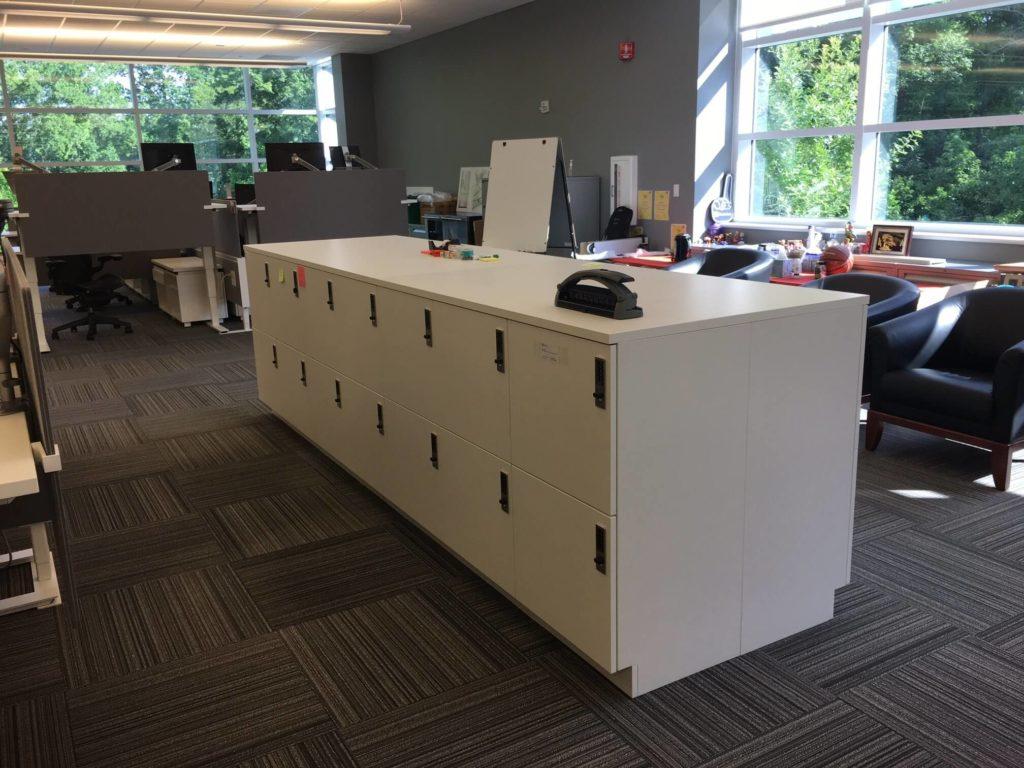 Agile workplace - island lockers - activity based work