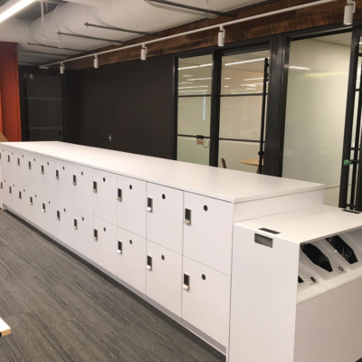 Laminate Island Lockers with Recycle End Caps