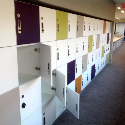 ADA Compliant Laminate Lockers - Colorful