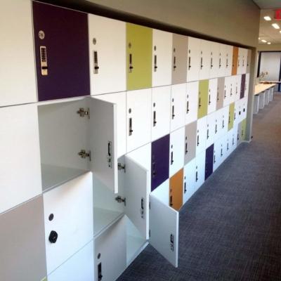 ADA Compliant Laminate Lockers - Colorful