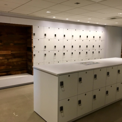 Laminate Locker Islands for Workplace