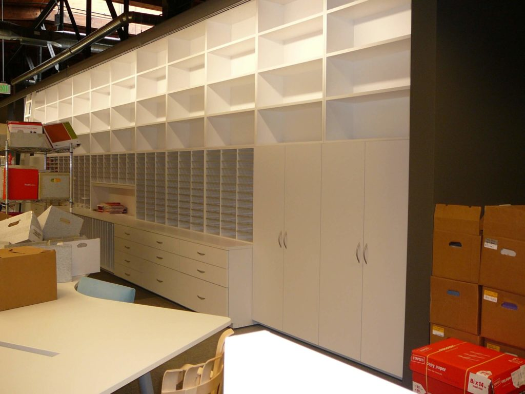 Architectural Library Storage - Samples, Binders, Wall Storage Workplace