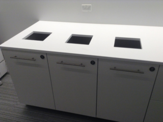 Laminate recycle station - workplace