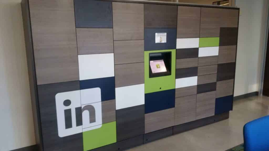 smart lockers for corporate use, amenities for buildings