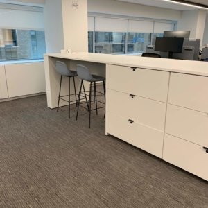 Office Islands with Storage and Work Surfaces