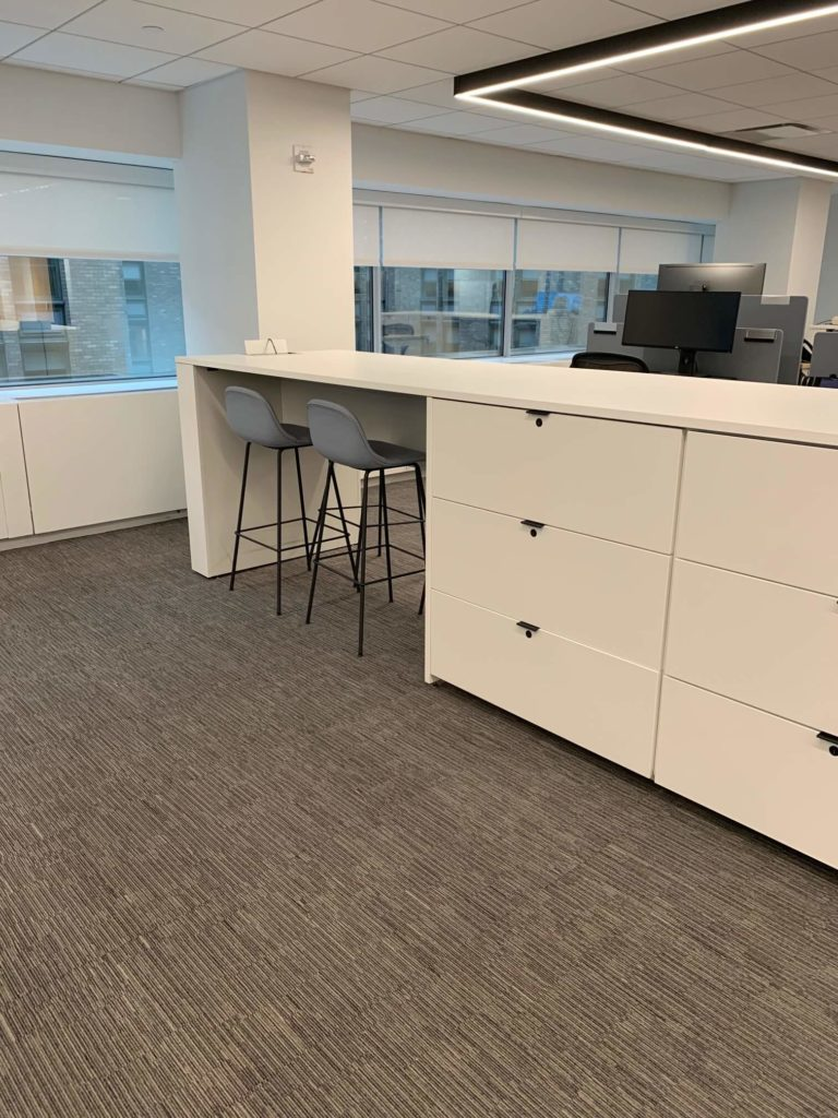 workplace work bars with storage - collaboration spaces