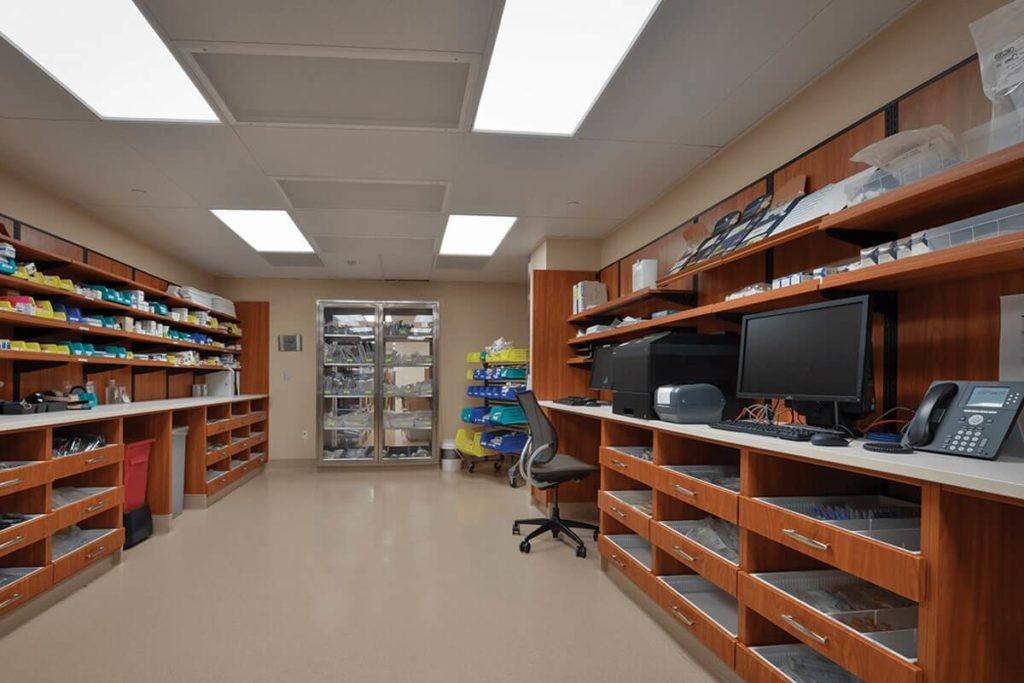Pharmacy Casework Storage