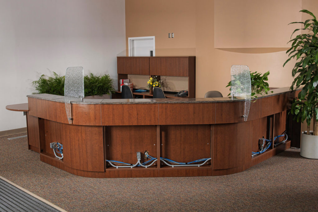 Cable Management - Reception Desk