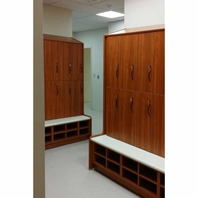 Cherry Wood Laminate Lockers - Fitness Lockers
